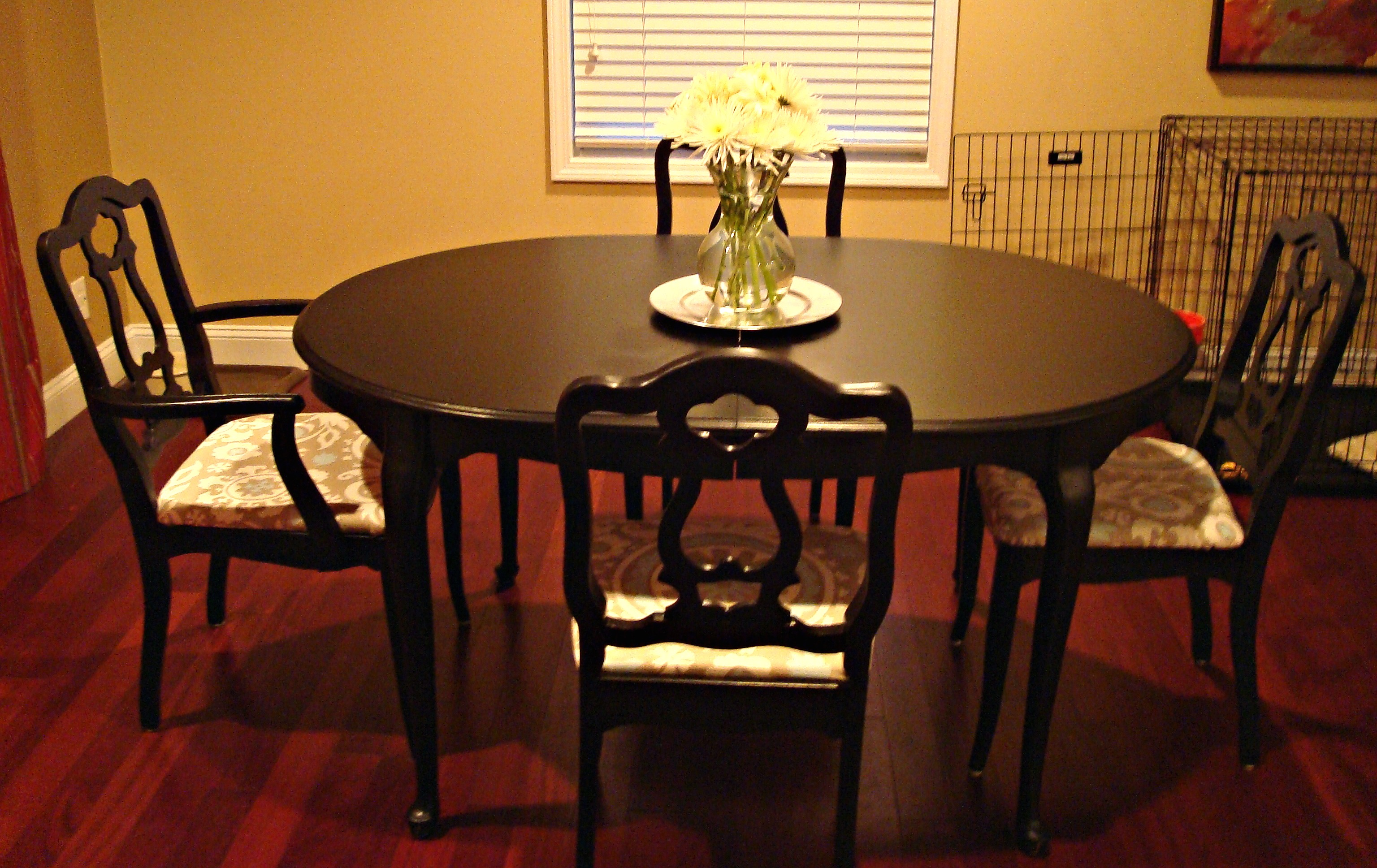 refurbished dining table and chairs monograms and makeovers