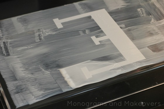 Monogram Lucite Tray Mod Podge