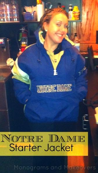 Notre Dame Starter Jacket