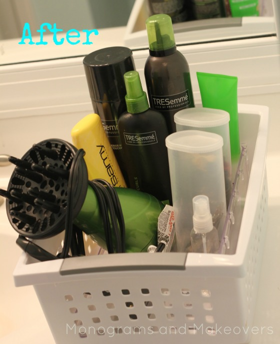 Hair Product and Make Up Organization