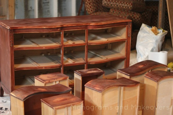 Dresser to Entertainment Center Sanded